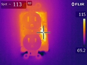 Home inspection Thermal image test